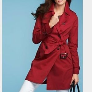 Talbots Plus Size Red Tench Coat